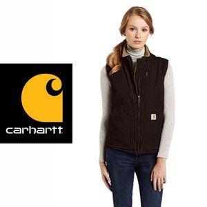 Carhartt Sandstone Sherpa-Lined Mock-Neck Vest - M